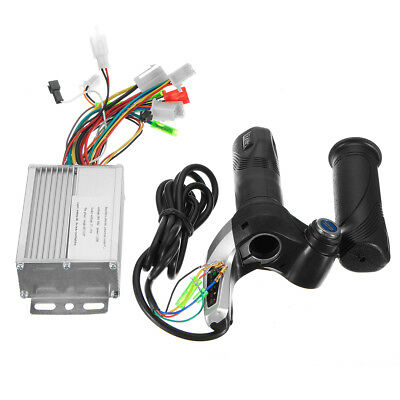 36V 350W Motor Brushless Controller+Throttle Twist Grip For Electric Scooter Sct