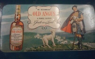 Vintage Old Angus Scotch Whiskey Tip Tray 1940's