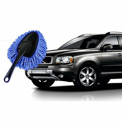 Multi-functional Car Duster Cleaning Dirt Dust Clean Brush Dusting Tool Mop Blue