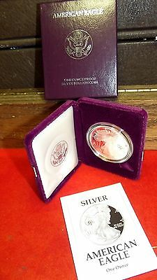 1992-S 1 Oz. American Silver Eagle Proof with Box/COA Original Owner