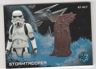 2016 Topps Star Wars Rogue One Series 1 Medallions Stormtrooper AT-ACT