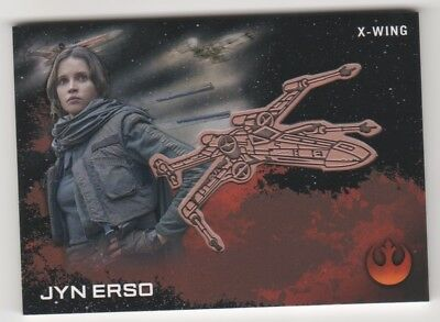 2016 Topps Star Wars Rogue One Medallions Jyn Erso with X-Wing