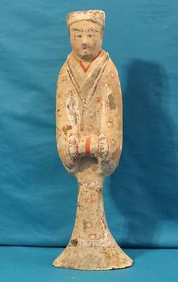 Fine Ancient Chinese Han Dynasty Pottery Court Lady Figure