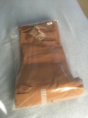 CARHARTT QUILT LINED INSULATED BIB OVERALLS BROWN #R38 32x30 brand new