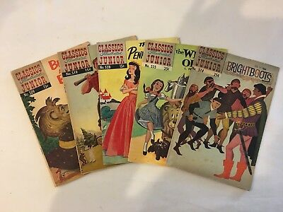 Classics Illustrated Juniors lot of 5 Issues  4.5 or Better