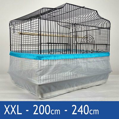 Seed Catcher Guard Cage Tidy Mess Protection Pile Bird Parrot Blue XXL 240cm