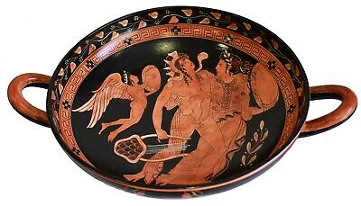 Dionysus with Ariadne and Eros -  British Museum Replica - Red figure Kylix