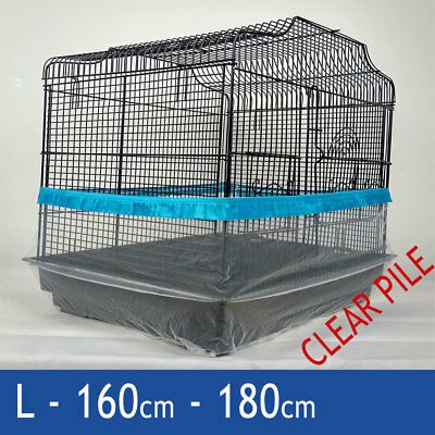 Bird Cage Tidy, Cage Seed Catcher Guard Clear Pile Blue Large 160cm 180cm Budgie