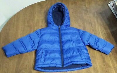 Toddler Baby Boys Size 12 Months Royal Blue Winter Coat Puffer Jacket