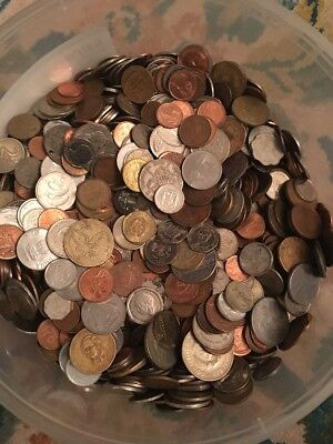 5 Pound Lot Of Mixed World Coins