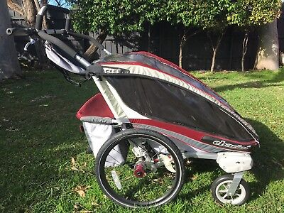 Chariot CX2 Twin Child Carrier Pram and Bike Trailer system