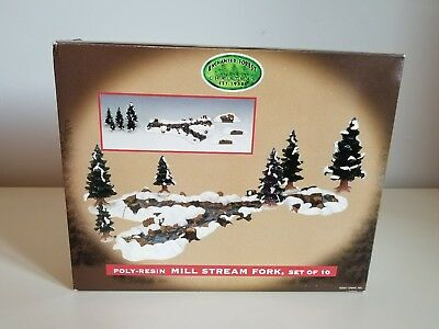 LEMAX~Enchanted Forest Christmas~Mill Stream Fork~Set of 10~Poly-Resin Used