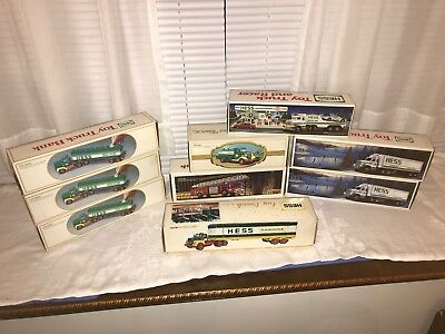 Hess Toy Truck Collection Lot of 9 Brand New In Box NIB All inserts & working