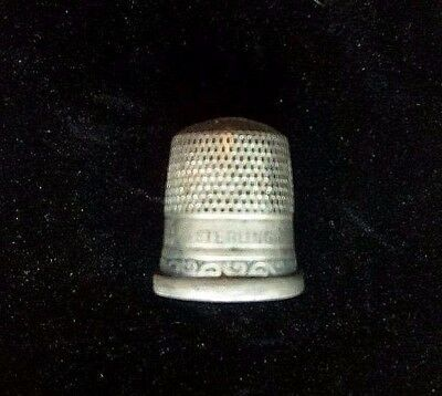 ANTIQUE THIMBLE STERLING SILVER Goldsmith Stern & Co Anchor Size 9 GSC Brothers