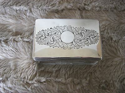Antique Silver top dressing table box William 1V / Victorian (George  Reid 1837)