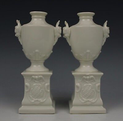 "Nymphenburg pair of ""Satyr Head Urns"" WorldWide"