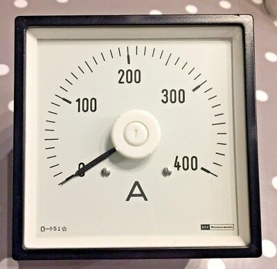 GEC 96x96 DIn Ammeter Panel Meter 0 to 400A Long scale 75mv DC input