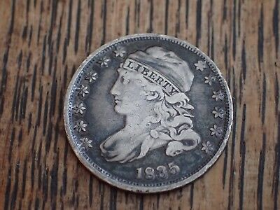 1835 Capped Bust Silver Dime Coin * Free Shipping *