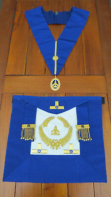 Masonic Lodge Past Grand Inspector of Workings Apron and Collar - Square & Level
