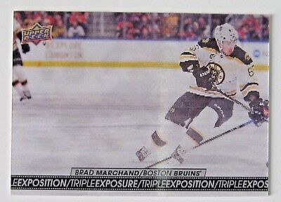2017-18 Tim Hortons Upper Deck Triple Exposure Brad Marchand