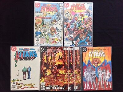 NEW TEEN TITANS Lot of 7 DC Comic Books - #19 37 39 40 40 40, 4!