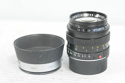 Leica Summilux-M 50mm F1.4 Lens with Cap & Hood