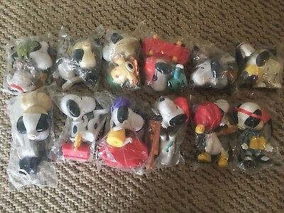 Connect A Snoopy McDonalds Happy Meal 2002 Toys Complete Set