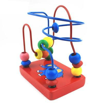 1 Pc Baby Mini Around Beads Wooden Toy Educational For Children Colorful Cute Ca