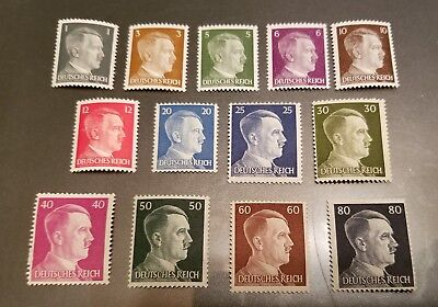 WW2 WWII Nazi Germany 13 Adolf Hitler head stamps -MNH-