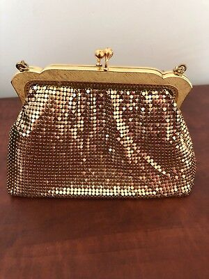 Vintage Oroton Gold Mesh Purse/Bag ~ Excellent Condition (With Original Tag)