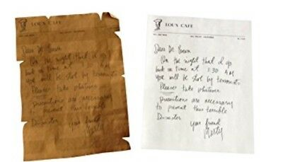 Back to the Future Movie Gift Marty McFly Letter to Doc Brown Time Machine