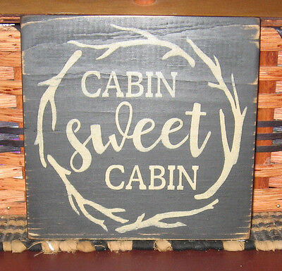 Primitive Country  Cabin Sweet Cabin Sign