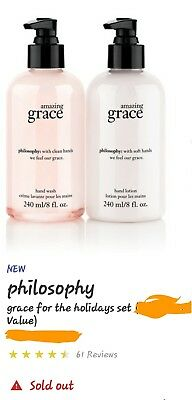 Philosophy AMAZING GRACE hand wash and lotion with caddy. SOLD OUT IN STORE !!!