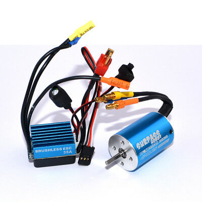 Surpass 2838 4500KV Motor Brushless +35A ESC für 1:14 1:16 1:18 RC Car Auto DEW