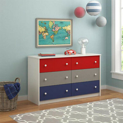 6 Drawer Dresser For Kids Ameriwood Home Kaleidoscope Classic FREE SHIPPING NEW