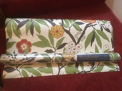 Sanderson vintage Primavera wallpaper. One roll unopened and second opened roll!
