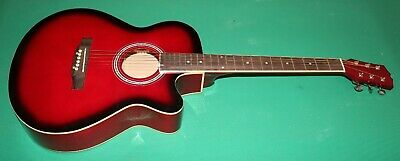 """Chitarra Acustica New Orleans 40"""" Colore Red-B"""