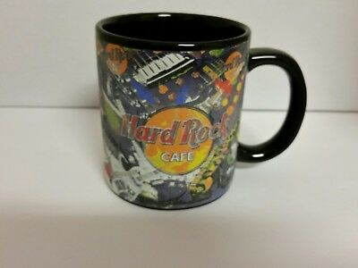 Large Black Coffee Mug Cup Collectible Hard Rock Cafe New Orleans Louisiana
