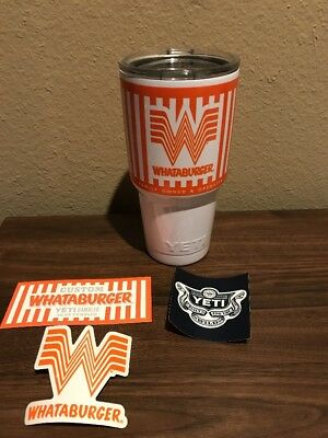 Official Limited Edition Whataburger Yeti Tumbler 30 Ounce Stainless Steel.