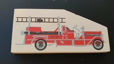 Cat's Meow Village Collectible Accessory 1914 Fire Pumper Truck 163  1990