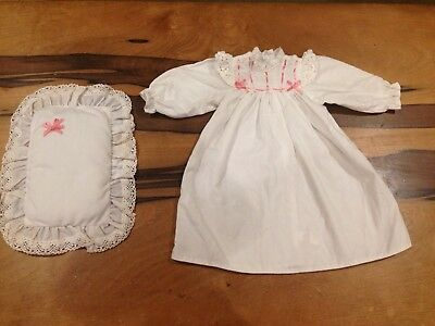 American Girl doll Samantha nightgown and pillow NICE SET!