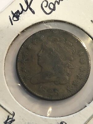 1828 Philadelphia Mint Copper Capped Bust Half Cent Free Shipping