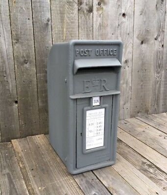 ER Royal Mail Post Box in Primer grey ready to paint