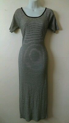Vtg 90s STRIPPED/RIBBED T-Shirt DRESS By THE LIMITED -SZ M/L 90'S VINTAGE GRUNGE