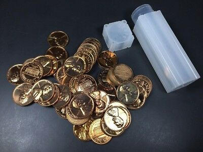 1960-1964 roll of lincoln proof cents defects 50 coins