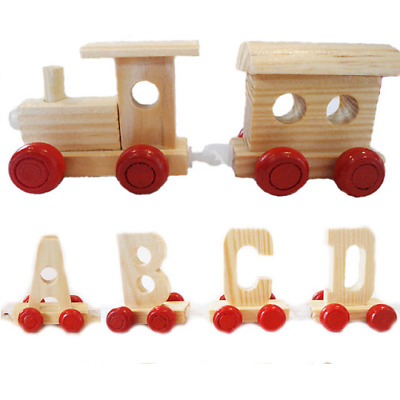 Personalised Name Wooden Alphabet Train Letter + Front and Rear Carriage