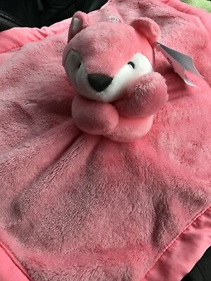 New Carter's Lovey Pink Fox Security Blanket Snuggle buddy NWT Girl