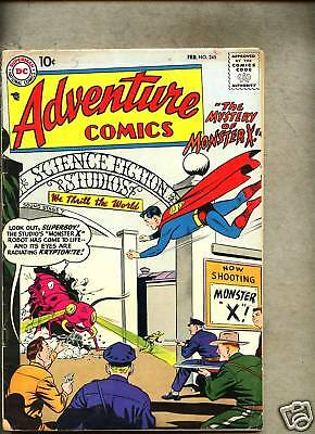 Adventure Comics #245-1958 gd+ Superboy / Aquaman