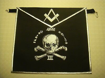 MASONIC APRON 3RD Degree Hand Painted