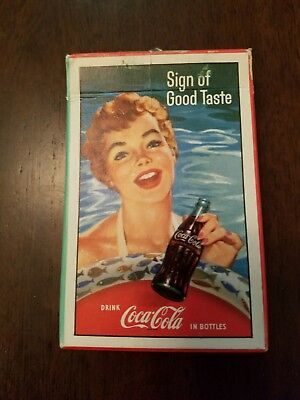 Vintage Coca Cola Playing Cards Full Deck with Tax Stamp 1959